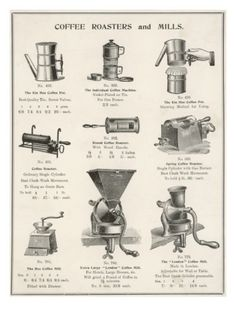 An Assortment of Coffee Roasters and Mills Giclee Print