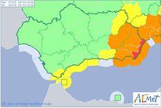 La AEMET activa el aviso rojo por lluvias en Almería         Desde las 05:00 horas hasta las 08:00 ...