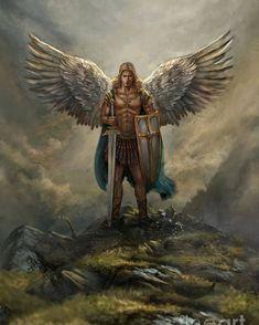 St. Michael Tattoo, Archangel Michael Tattoo, Guerrero Tattoo, Tattoo Guerreiro, Male Angels, Black Angels, Michael Art, Angel Warrior, Angel Pictures