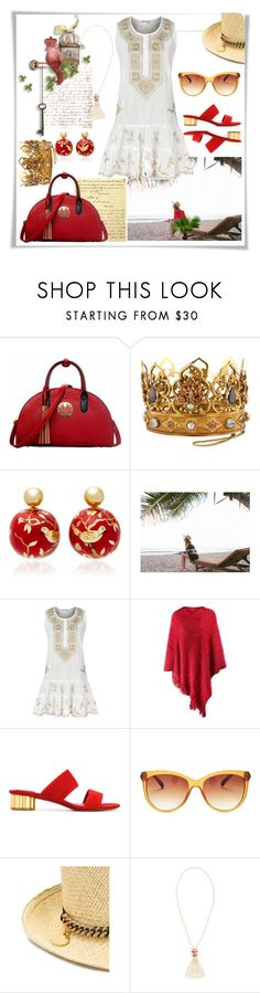 """""""Royal Elegance"""" by christined1960 ❤ liked on Polyvore featuring Silvia Furmanovich, Juliet Dunn, Salvatore Ferragamo, Lucky Brand, STELLA McCARTNEY, Morgan and vintage"""