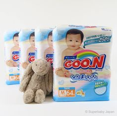 Superbaby Japan - GOO.N nappies - Medium - 256 pieces (4 pack carton)