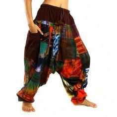 Aladin Patchworkhose mit Gummizug Baumwolle