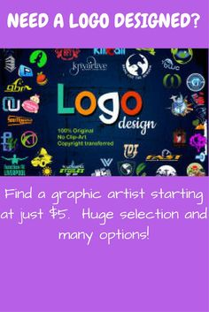 Affordable graphic design.  Get a new logo for your budding business or update a current logo.