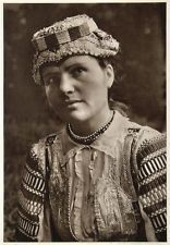 1953 Slovakian Woman Girl Costume Kroje Zdiar Slovakia - ORIGINAL PHOTOGRAVURE Folk Costume, Girl Costumes, Traditional Clothes, Homeland, Vintage Images, Captain Hat, Culture, The Originals