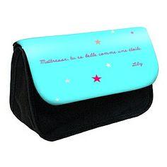 Cadeau personnalisable avec texte. idée cadeau pour maître, maîtresse, nounou... Plusieurs coloris du rabas disponibles.