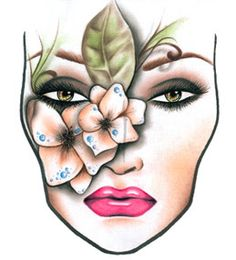 zombie face chart#Halloween project   Media makeup #halloween ...