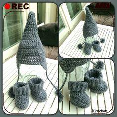 iCrochetstuff: Puntmutsje en slofjes haken met patroon / crochet pattern boots & hat
