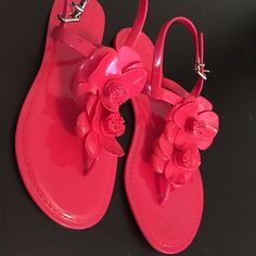 gianni bini sandals (brand new still) Watermelon color between sizes 6-6.5 Gianni Bini Shoes Sandals