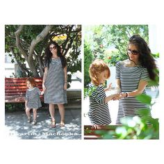 Striped dress - family look by Dvarim Short Sleeve Dresses, Dresses With Sleeves, Striped Dress, What To Wear, My Style, Photography, Products, Fashion, Moda