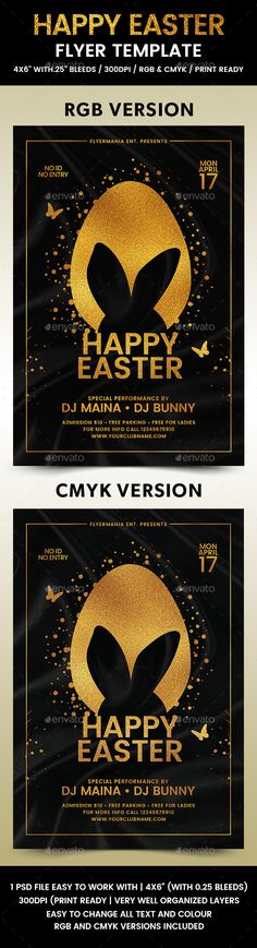 Modern Easter Church Flyer Template  Flyer Template Churches And