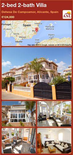 2-bed 2-bath Villa in Dehesa De Campoamor, Alicante, Spain ►€124,000 #PropertyForSaleInSpain