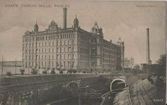 Coats Thread Mills, Paisley. Post Card of Ferguslie Mills, Renfrewshire, Scotland.