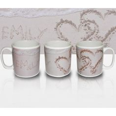 Personalised Sand Hearts Mug  from Personalised Gifts Shop - ONLY £9.99