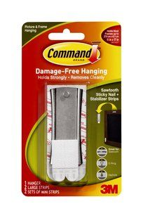 17047 Command(TM) Sawtooth Sticky Nail and Stabilizer Strips - perfect for picture and clock hanging!!