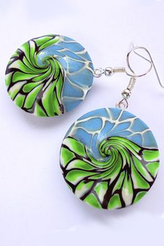 Tutorial how to make similar earrings from polymer clay: https://www.etsy.com/listing/474596045/earrings-tutorial-jewelry-tutorial  #tutorial #polymerclaytutorial #claytutorial #tutorials
