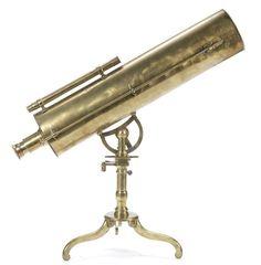 A Thomas Short 5 inch brass reflecting telescope on stand, English, circa 1770,