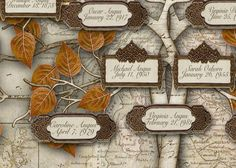 Scottish Family Tree Design 33 Labels on a by CreativeFamilyTree