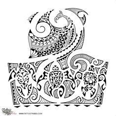Mixed-Polynesian-halfsleeve-tattoo.jpg (1000×1000)