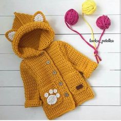Ideas Knitting Baby Coat Kids Fashion For 2019 Crochet Baby Jacket, Crochet Coat, Crochet Baby Clothes, Crochet Girls, Crochet For Kids, Crochet Baby Sweaters, Free Crochet, Crochet Pattern, Knitting For Kids