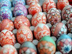 Artistically painted eggs image via Namaste Cafe at www.Facebook.com/NamasteDharmaCafe