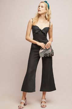 Black jumpsuit for summer Night Outfits, Boho Outfits, Fashion Outfits, Romper Dress, Dress Up, Summer Vacation Style, Overall, Black Jumpsuit, Fall Winter Outfits
