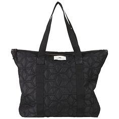 Buy Et DAY Birger et Mikkelsen Gweneth Geometric Quilt Tote Bag, Black Online at johnlewis.com