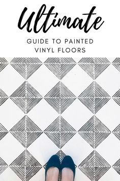 How to Paint Vinyl Floors: Step by Step Guide in 2021 Diy Home Decor Projects, Easy Home Decor, Decor Ideas, Painted Vinyl Floors, Vinyl Flooring, Do It Yourself Decorating, Decorating On A Budget, Vinyl Show, Painting Baseboards