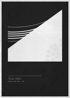 "One of ""Six Architects"", a series of posters by Andrea Gallo. This is Alvar Aalto."