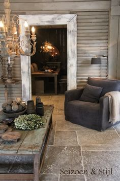 Love the texture and warmth in the flooring