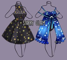 Starry Glam outfit Adopt [Close] by Miss-Trinity on DeviantArt Cute Teen Outfits, Cute Outfits For School, Anime Outfits, Outfits For Teens, Casual Outfits, Drawing Anime Clothes, Dress Drawing, Fashion Design Drawings, Fashion Sketches