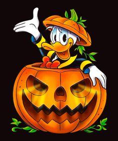 Mickey Mouse Drawings, Mickey Mouse Art, Halloween Rocks, Halloween Pictures, Halloween Cartoons, Disney Halloween, Duck Wallpaper, Fall Wallpaper, Duck Cartoon
