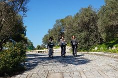 E-bikes for the higher parts of Athens. Enjoy the stunning views over the city