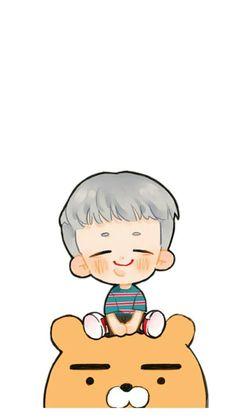 Namjoon chibi So so cute Bts Chibi, Anime Chibi, Kawaii Chibi, Namjoon, Rapmon, Bts Drawings, Bts Fans, Kpop Fanart, Leprechaun