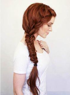 Braided hairstyle for long hair is a popular trend. it is said that, braided hairstyle is a perfect hairstyle for long hair. Today we have collected some top level of braided hairstyles for your favorite and lovely long hair. French Braid Hairstyles, Pretty Hairstyles, Wedding Hairstyles, French Braids, French Fishtail, Easy Hairstyles, Hairstyle Ideas, Hairstyles 2016, Heatless Hairstyles