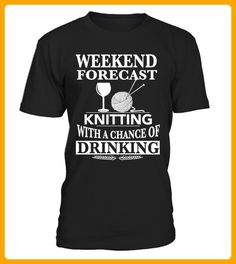 Knitting With A Chance Of Drinking - Shirts für onkel (*Partner-Link)