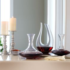 Riedel Ultra Magnum, Magnum, and Amadeo decanters