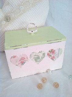 Wood Box - Cottage Shabby Style. $18.00, via Etsy.