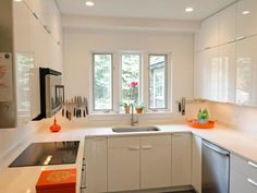 46 cute and small kitchen design ideas. Small kitchen design ideas should be ways you come up with to save as much. Home Kitchens, Kitchen Design Small, Kitchen Remodel, Small Space Kitchen, Kitchen Decor, Modern Kitchen, Kitchen Layout, Minimalist Kitchen, Small U Shaped Kitchens