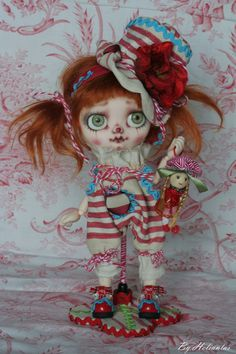 doll Middie Blythe OOAK by heliantas on the Bay for 7 days. FA