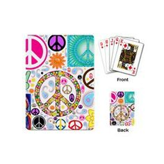 Peace Collage Playing Cards (Mini) from Stuff Or Something