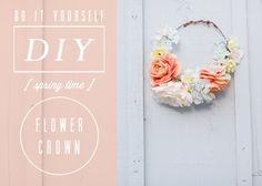DIY couronne de fleur mariage