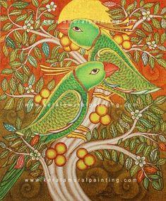Kerala Mural Paintings - Kerala Mural Painting Worli Painting, Kerala Mural Painting, Madhubani Painting, Indian Art Paintings, Painting Lessons, Fabric Painting, Batik Pattern, Pattern Art, Outline Drawings