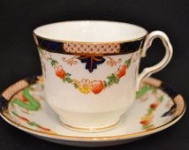 Collingwoods China Imari Inspired Teacup and Saucer Set, c. 1937-1957