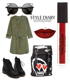 """""""Untitled #35"""" by asirane-nyame on Polyvore featuring H&M and Anastasia Beverly Hills"""
