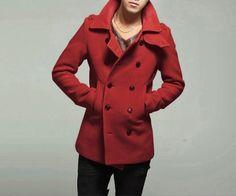 ABODY New Men's Stylish Double Breasted Trench Coat Jacket Windbreaker Outwear Winter