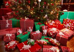 Christmas Presents Under The Tree | Christmas gifts under tree - Stock Image F005/2700 - enlarged ...