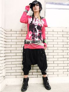 Japanese Punk Fashion~ idk about the bottoms but everything else I would wear