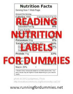 RUNNING WITH OLLIE: Reading Nutrition Labels for Dummies