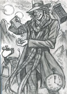 Fourth Doctor (rough prep sketch) by rainesz.deviantart.com on @deviantART