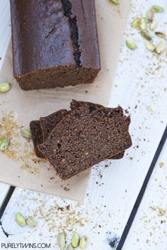 Low carb gluten free quick chocolate nut butter bread
